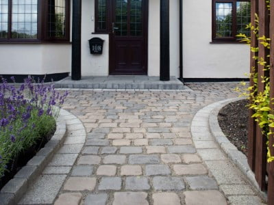 Hereford Paving Contractors Laying Cobblestones in Hereford